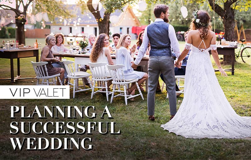 Planning valet services for a successful wedding